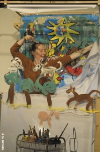 Contes en Corps - Histoires en peintures, sable et paroles - Le jour de la fabrication des yeux - d'après un conte de Philippe Dorin