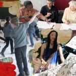 les ateliers de La Pluie d'Oiseaux, ecritre, arts plastiques, théâtre, musique, calligraphie, danse....