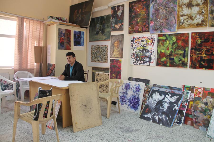 Wahbi Rasool, peintre et professeur à l'academie des arts de Sulaimany