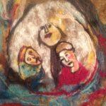 le tricot de madame avril, trois femmes regardent, les moindres petite choses, spectacle jeune public