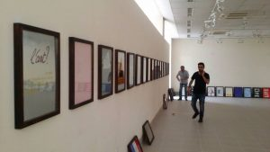 Le Crossing Museum, musée des arts contemporains de Soulaimany - préparation de la première exposition - ici collection ART? d'Alain Buyse